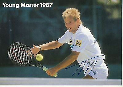 Thomas Muster TOP AK 80er Jahre Orig. Sign. +92288