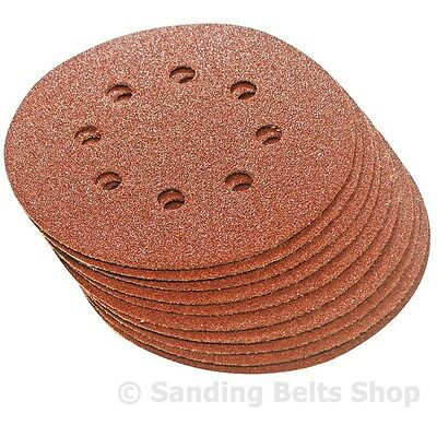 125mm  DA  SANDING DISCS 8 HOLE CHOICE OF GRITS FROM 24 - 400 GRIT HOOK & LOOP