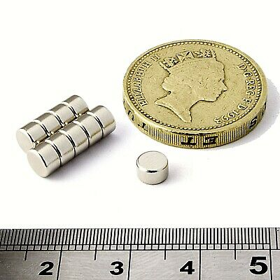 Strong Disc Magnets 5mm x 3mm Powerful * 0.75Kg PULL * Round small Magnet