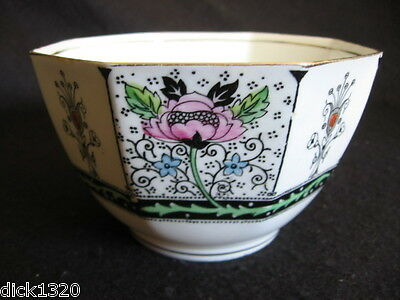 RARE ART DECO HAND-PAINTED DELPHINE CHINA #859 OPEN SUGAR BOWL c.20's