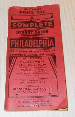 Vintage Philadelphia Street Guide 1940's-50's +Camden- Shows Theatres Movies Etc