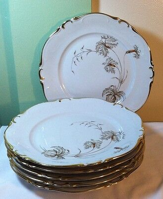 Heinrich China H&C Selb Bavaria Germany DUBARRY Dinner Plates - Set of 6
