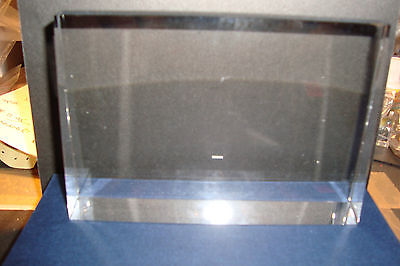 Medium Heavy Genuine High Grade Crystal Glass Rectangular Prism~D~uk seller