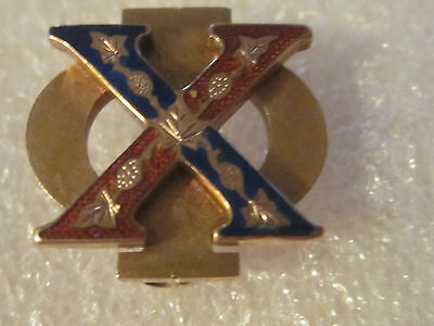 Antique 14K Solid Gold  Chi Phi Fraternity Pin #2143