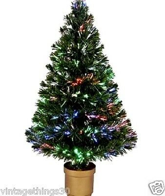 2.5ft Color Changing FIBER OPTIC Christmas Tree VIDEO