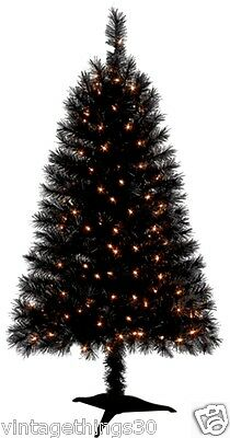4 ft BLACK Harley Davidson Christmas Tree 175 tips 150 clear lights
