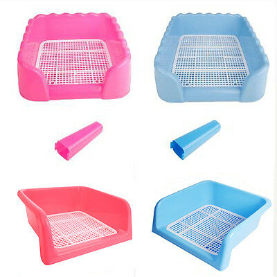 Indoor Pet Dog Puppy Potty Training Fence Tray Pad Pee Toilet 2 Color S M L