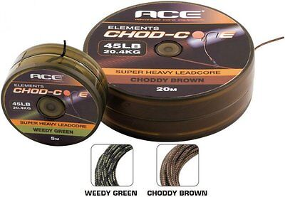 Ace NEW Chod-Core Super Heavy Carp Fishing Leadcore Weed or Gravel *5m or 20m*