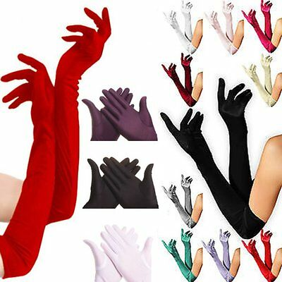 Stylish Elegance Stretch Stain Long Gloves Wedding Formal Party Opera Prom 55CM