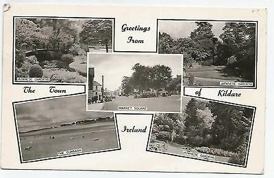 irish postcard ireland kildare multiview