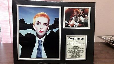 Eurythmics- Front Row Collectibles Unframed Celebrity Bio Photograph Set