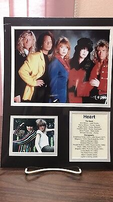 Heart - Front Row Collectibles Unframed Celebrity Bio Photograph Set