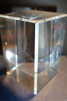 Small Heavy Genuine High Grade Crystal Glass Rectangular Prism~F~uk seller