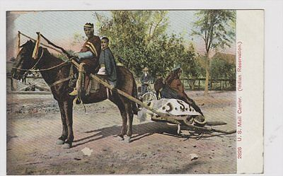US Mail Carrier Indian Reservation Adolph Selige Publishing Co 1900's Postcard