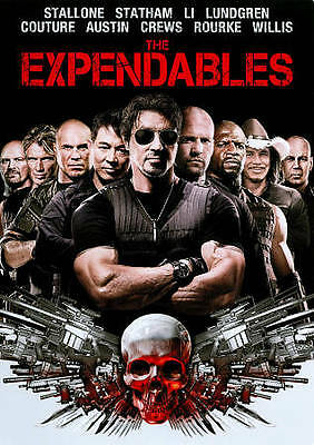 THE EXPENDABLES DVD (2010) Sylvester Stallone Jason Statham Mickey Rourke