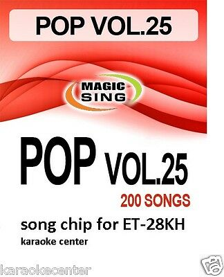 New #25 ENTERTECH MAGIC SING MIC POP ROCK Country Song Chip for ET28KH