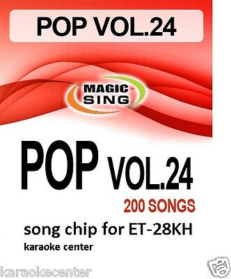 New #24 ENTERTECH MAGIC SING MIC POP ROCK Country Song Chip for ET28KH