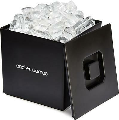 Andrew James Ice Bucket Large Square with Lid Plastic Double Walled 3L