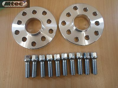 VW Volkswagen Audi  Alloy Wheel Spacers 5x100/112 57.1 15mm + OE Bolts