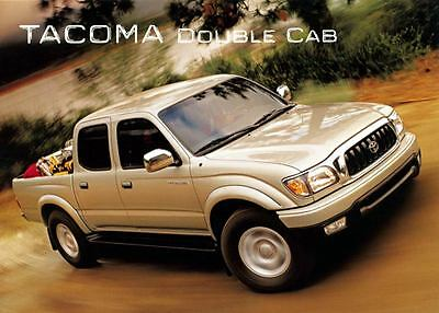 2001 Toyota Tacoma Double Cab Pickup Truck Large Factory Postcard my1283