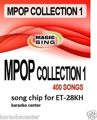 ET28KH #1 ENTERTECH MAGIC SING MIC 400 Song POP ROCK Country Collection Chip