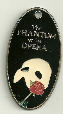 ADVERTISING FOB  THE PHANTOM OF THE OPERA  HANDPAINTED ON SILVERPLATE 1988