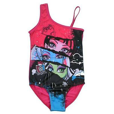Girls Monster High Swimwear One Piece Swimsuit SZ 6 8 10 14 AU SELLER gs009