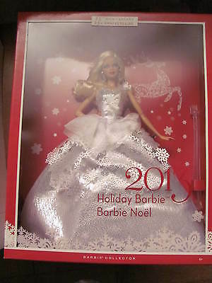 BARBIE 2013 HOLIDAY Barbie in White Dress Collector's Edition NEW