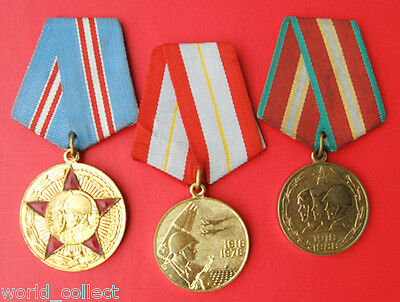 Soviet Russian lot medal 50 / 60/ 70 years Armed Forces 100% original ! No Res !