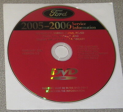 2006 Ford F-53 F53 Motorhome Chassis Service Manual Set DVD