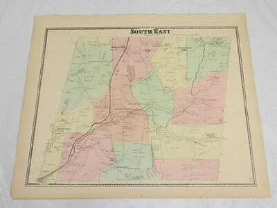 1867 Antique COLOR Map///TOWN OF SOUTH EAST, PUTNAM COUNTY, NEW YORK