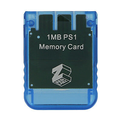 ZedLabz memory card for Sony PS1 Playstation 1MB PS2 compatible* - Blue