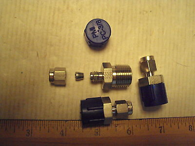 "2-6 FBZ-SS Parker CPI 1/8"" tube x 3/8 ""mnpt Male Connector fitting 316 ss new"