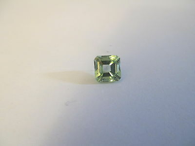 1.66ct Loose Emerald Cut Genuine Green Quartz 6 x 6mm