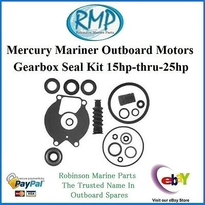 A Brand New Mercury Mariner Outboard Gearbox Seal Kit 15hp-25hp # 26-85090A2