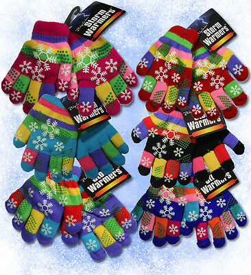 Girls Childrens Kids Warm Winter Magic Gloves Rainbow Stretch Insulated Thermal