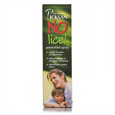 Picksan No Lice - Preventive Spray - 100ml - For Children 2+ - Fast Shipping
