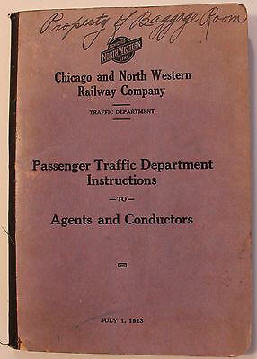 1923 Chicago & North Western Railway Passenger Traffic Department Instructions