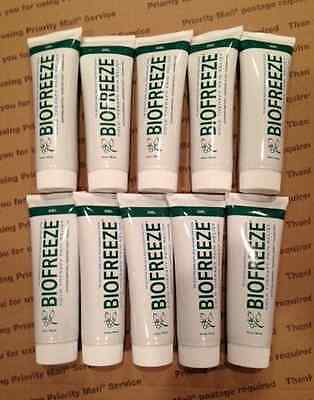 BIOFREEZE Gel Tube 4 oz PAIN RELIEF Lot of 10 New/Fresh #11796 Fast Ship!