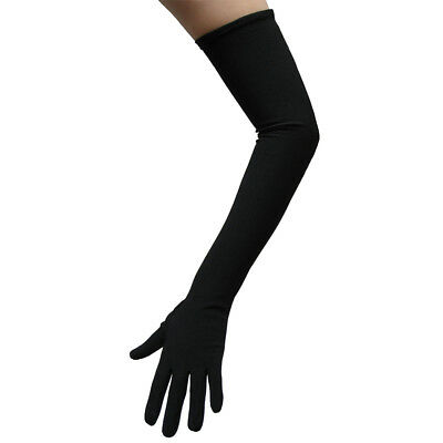 Long Opera Length Black Costume Gloves ~ HALLOWEEN WEDDING PROM DANCE PARTY