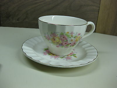 Vintage Knowles Rose Pattern Cup & Saucer