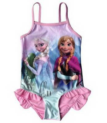 AU SELLER Girls Frozen Elsa Anna Swimwear One Piece Swimsuit Dance Leotard gs006