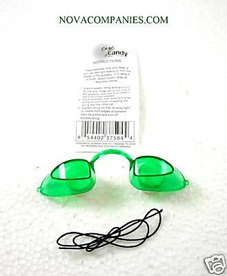 Tanning Bed Eyewear EYECANDY Goggles  protection GREEN