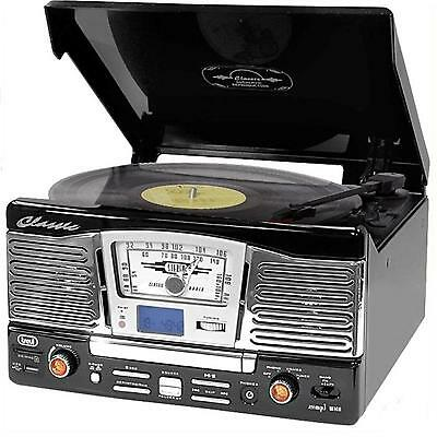 syst me hifi vintage trevi tourne disque lecteur cd radio. Black Bedroom Furniture Sets. Home Design Ideas