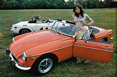 1971 MG MGB ORIGINAL Factory Postcard my1411