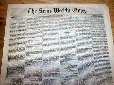 1864 Civil War newspaper w opinion on PAY of COLORED OFFICERS compared to WHITES
