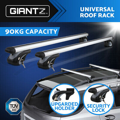 Giantz Universal Car Top Roof Rack Rail Cross Bar Aluminum Alloy Lockable 1350MM