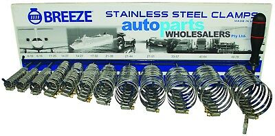 Breeze Hose Clamp Kit All 304 Grade Stainless Steel 140 Piece Made In The Usa