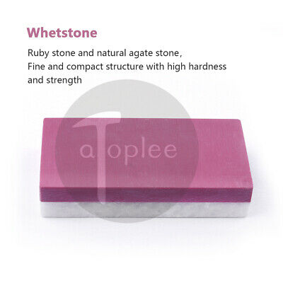 Two Sides Grit 3000-4000&8000-10000 Sharpening Stone Ruby / Natural Agate Stone