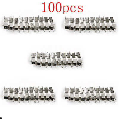 100pcs Stainless Steel Window Shower Curtain Sliding Hook Drapery Spring Clips